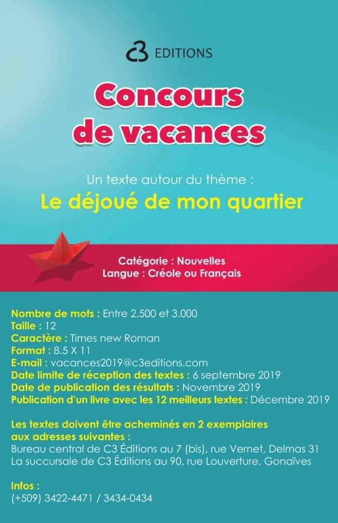 Concours De Vacances A C3 Editions Le Temps Litteraire